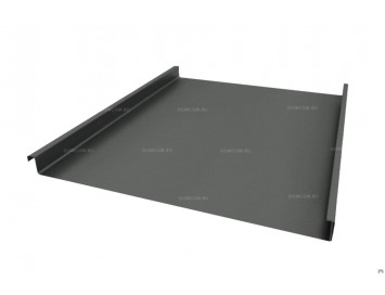 Панель двойного стоячего фальца Pural Matt с покрытием Матовый Полиуретан и толщиной стали 0,50 мм