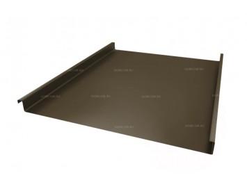 Панель двойного стоячего фальца Quarzit с покрытием Полиуретан и толщиной стали 0,50 мм