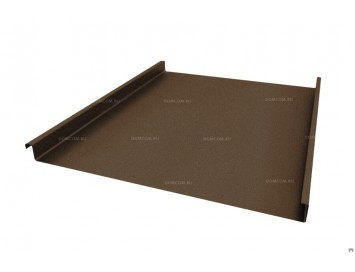 Панель двойного стоячего фальца Velur с покрытием Матовый Полиэстер и толщиной стали 0,50 мм