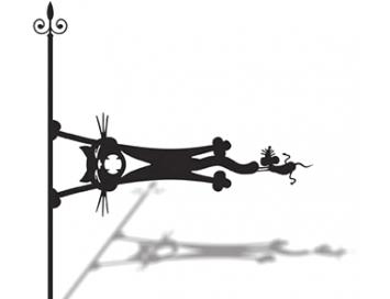 Указатель ветра Кот и мышь