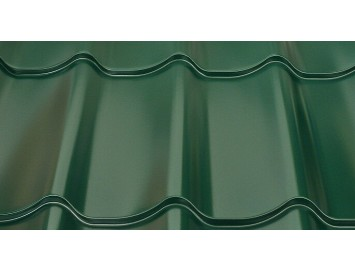 Металлочерепица Classic Quarzit с покрытием Полиуретан и толщиной стали 0.50мм