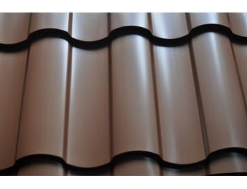 Металлочерепица KREDO Quarzit с покрытием Полиуретан и толщиной стали 0.50мм