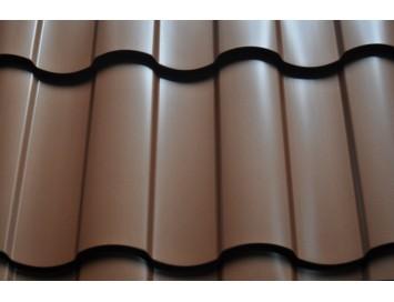 Металлочерепица KREDO Quarzit Lite с покрытием Полиуретан и толщиной стали 0.50мм