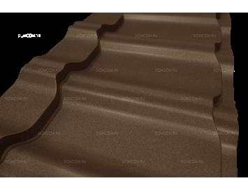 Металлочерепица KVINTA Plus Polydexter Mat с покрытием Матовый Полиуретан и толщиной стали 0.50мм