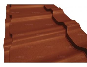 Металлочерепица KVINTA Velur с покрытием Матовый Полиэстер и толщиной стали 0.50мм