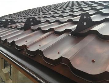 Металлочерепица TRAMONTANA Cloudy с покрытием Текстурированный Полиэстер и толщиной стали 0.50мм