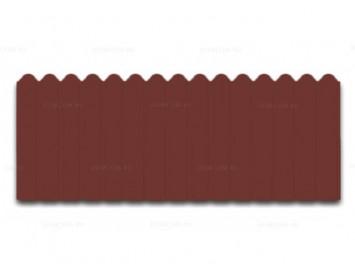Профнастил фигурный с покрытием Полиэстер и толщиной стали 0,45 мм
