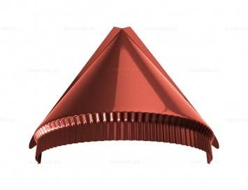 Заглушка конька полукруглого конусная Pural с покрытием Полиуретан