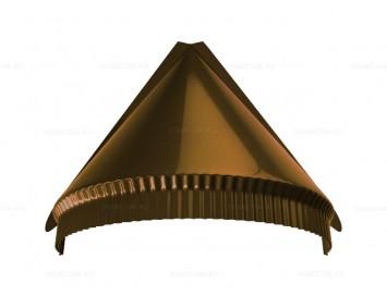 Заглушка конька полукруглого малого конусная Quarzit с покрытием Полиуретан