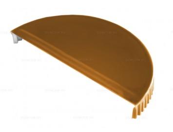 Заглушка конька полукруглого малого торцевая Quarzit с покрытием Полиуретан