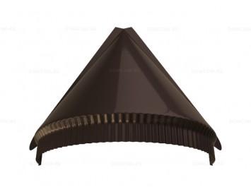 Заглушка конька полукруглого малого конусная Quarzit Lite с покрытием Полиуретан