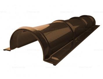 Планка конька малого полукруглого Quarzit Lite с покрытием Полиуретан