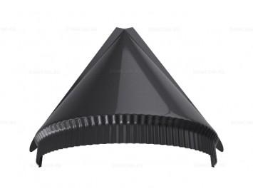 Заглушка конька полукруглого малого конусная Satin с покрытием Полиэстер
