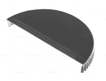 Заглушка конька полукруглого малого торцевая Satin с покрытием Полиэстер