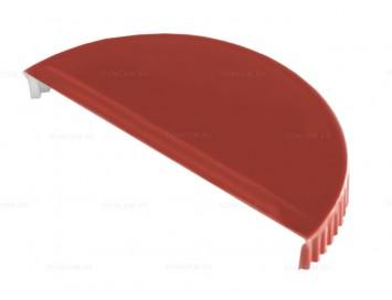 Заглушка конька полукруглого малого торцевая Velur с покрытием Матовый Полиэстер