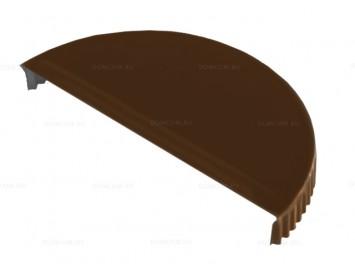 Заглушка конька полукруглого торцевая Viking®E с покрытием Матовый Полиуретан