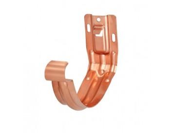 Крюк желоба универсальный, D150мм, медь