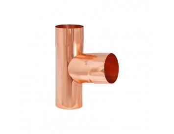 Тройник трубы, D90мм, медь