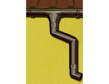 Стальная водосточная система Aquasystem, 125/90 c покрытием Pural