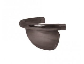 Заглушка желоба декоративная, D125мм, с покрытием Pural