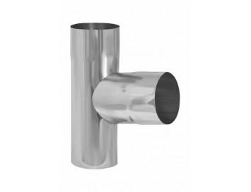 Тройник трубы, D90мм, цинк-титан