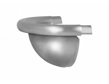 Заглушка желоба декоративная 125мм, цинк-титан