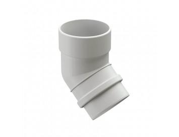 Колено соединения трубы 45°, 100мм, Lux Plombir