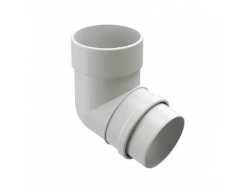 Колено соединения трубы 72°, D100мм, Lux Plombir