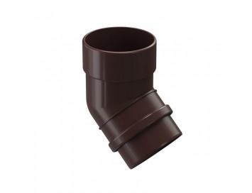 Колено соединения трубы 45°, 100мм, Lux