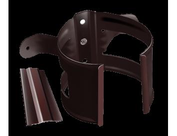 Хомут крепления трубы на деревянные поверхности, D90мм, с покрытием HDX®Granite