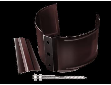 Хомут крепления трубы на кирпичные поверхности, D90мм, с покрытием HDX®Granite