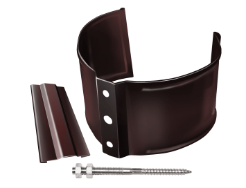Хомут крепления трубы на кирпичные поверхности, D100мм, с покрытием HDX®Granite